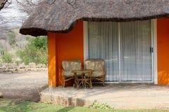 Località di soggiorno del patio del salotto del giardino, Africa Fotografia Stock Libera da Diritti
