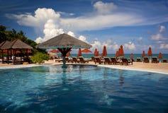 Località di soggiorno dell'hotel in Tailandia Fotografia Stock Libera da Diritti