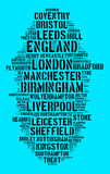 Localities in England. Word cloud concept Royalty Free Stock Image