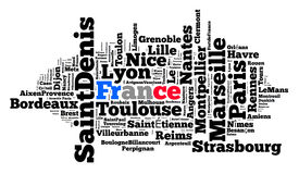 Localities in France Royalty Free Stock Photos