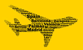 Localities in Spain Stock Image