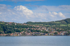 Locality on the Danube shore Stock Photography