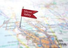 Localizador do mapa de Silicon Valley fotografia de stock royalty free