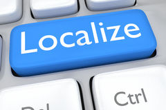 Localize concept Royalty Free Stock Photography