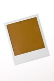 Localized blank Polaroid photo with text space Royalty Free Stock Photo