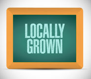 locally grown board sign illustration Royalty Free Stock Photography