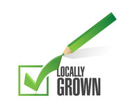 Locally grown check mark illustration design Stock Photos