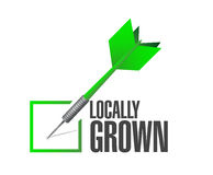 Locally grown dart check mark illustration. Design over a white background stock images