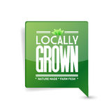 Locally grown food sign illustration design Stock Photography
