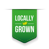 Locally Grown green ribbon Stock Image