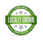 Locally grown green seal illustration design Stock Photo