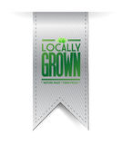Locally grown grey banner illustration design Stock Image