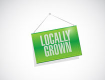 Locally grown hanging banner illustration design Royalty Free Stock Photos