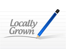 Locally grown message sign illustration Royalty Free Stock Image