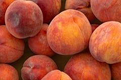 Locally Grown Peaches. Farm grown peaches for sale at a local farmers market in Southwest Virginia, USA Stock Photos