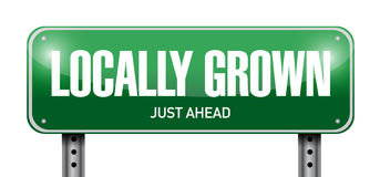 locally grown road sign illustration design Royalty Free Stock Images