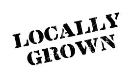 Locally Grown rubber stamp Stock Photography