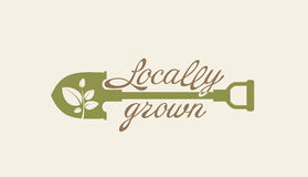 Locally grown. Shovel. Stock Images