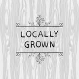 Locally Grown VECTOR illustration, Floral Doodle Frame, Black Outline Vignette. Locally Grown VECTOR illustration, Floral Doodle Frame, Black Outline Vignette Stock Image