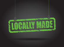 Locally hanging sign Royalty Free Stock Image
