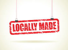 Locally hanging sign Stock Image