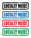 Locally made stamps Royalty Free Stock Photos
