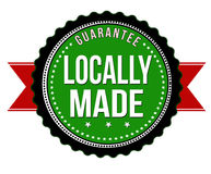 Locally made sticker or badge Royalty Free Stock Image