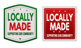 Locally made stickers Royalty Free Stock Photo