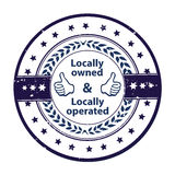 Locally owned, locally operated Stock Images