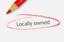 Locally owned Royalty Free Stock Photos
