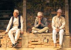 Locals Bhaktapur, Непала стоковое изображение rf