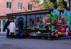 Locals buying food Royalty Free Stock Images