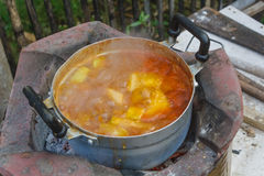 Locals de la portilla del curry Imagen de archivo libre de regalías