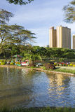 Locals enjoying the evening in Uhuru Park In Nairobi, Kenya Stock Photography