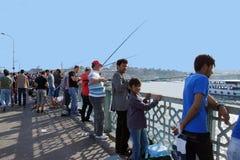Locals fish for sardines Stock Photos