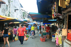 Locals going to the wet market Royalty Free Stock Image