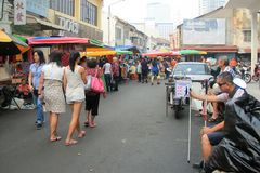 Locals going to the wet market Royalty Free Stock Images