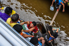 Locals selling goods on the Amazon River, Brazil Stock Images