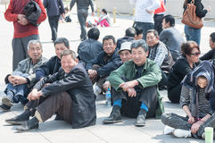 Locals in Tiananmen Square Royalty Free Stock Photos