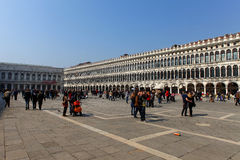 Locals and tourist at Piazza San Marco Stock Photography