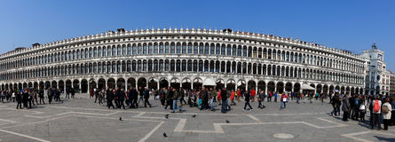 Locals and tourist at Piazza San Marco Stock Image