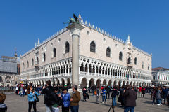 Locals and tourist at Piazza San Marco Stock Photos