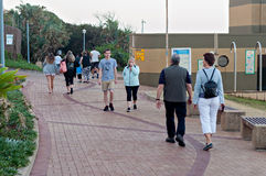 Locals and tourists at Bronze Beach on the Umhlanga Rocks promenade Stock Photography