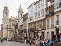San Francisco Street - Santiago de Compostela stock image