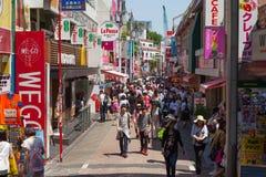 Locals and tourists walking at Tokyo's Harajuku's Takeshita street Royalty Free Stock Photography