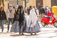 Locals in Traditional Costume royalty free stock photos