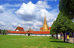 Locals Workers in Royal Palace in Bangkok Stock Photography