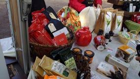 Localy ha prodotto gli spuntini ad un festival svedese del raccolto Immagini Stock