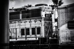 Locamotive à la station Photographie stock