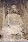 Locana Buddha at Longmen Grottos stock photography